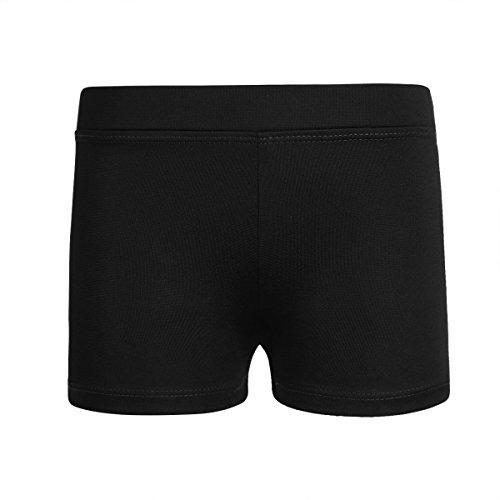 Freebily Girls Boy-Cut Shorts Low Rise Solid Booty Bottoms Dance Underwear Black 10