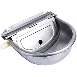 Homend Automatic Waterer Bowl Farm Grade Stainless Stock Waterer Horse Cattle Goat Sheep Dog Water (Without Drainage Hole)