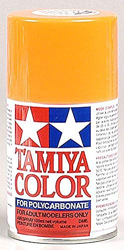 Tamiya America, Inc Polycarbonate PS-24 Fluorescent Orange, Spray 100 ml, TAM86024