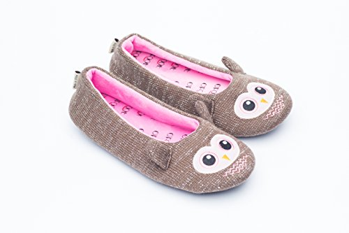 Pictures of Ofoot Womens Ballerina Fluffy Knit Scuff SlippersCute 6