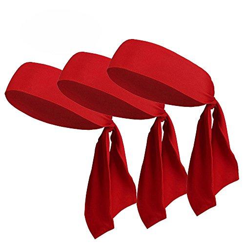 V-SPORTS Dri-Fit Sports Head Tie, Solid Color Headband