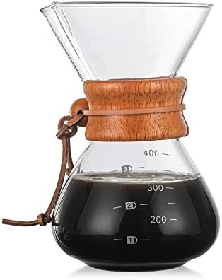 Tenrry Pour Over Coffee Maker with Borosilicate Glass Manual Coffee Dripper Brewer