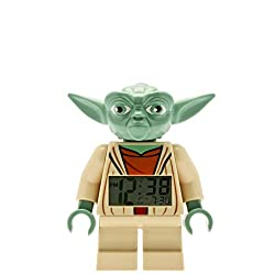 LEGO Kids' 9003080 Star Wars Yoda Minifigure Light Up Alarm Clock (7 Inches Tall)