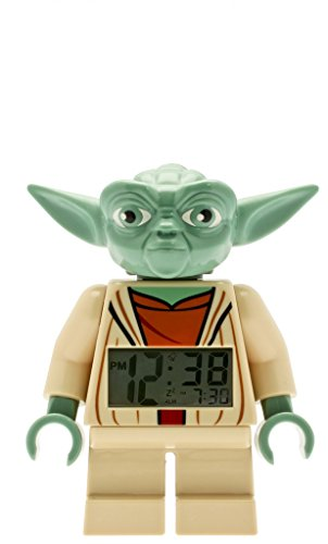 LEGO Kids' 9003080 Star Wars Yoda Mini-Figure Light Up Alarm Clock (7 Inches Tall)