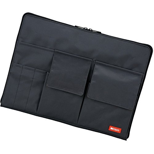 LIHIT LAB Laptop Sleeve With Storage Pockets , Black, 10 x 1
