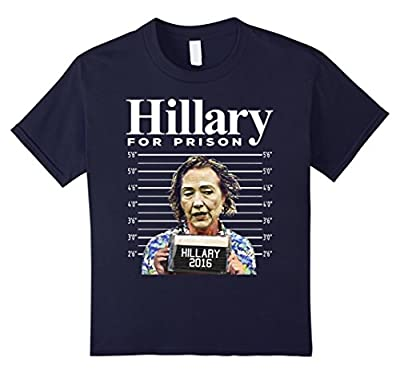 Hillary Clinton For Prison Police Mugshot Funny T-Shirt