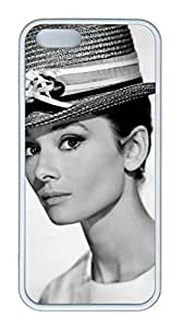 TPU White Color Soft Case For iPhone 5S Super Soft Ultra-thin Phone Case Suit iPhone5/5S Very Fine Workmanship Case Easy To Operate Audrey Hepburn 221