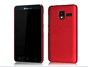 Tip-top? Lenovo A850+ Case ,Rubberized Frosted Hard Case Cover Protective Skin Compatible with Lenovo A850+ 5.5inch(Wine Red )