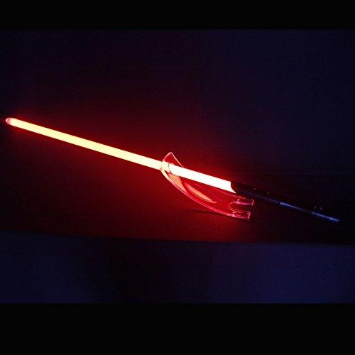 YDD LED Light Saber, Force FX Heavy Dueling, Rechargeable Lightsaber, Loud Sound High Light with FOC, Metal Hilt, Blaster, Star Wars Toy Gift (Black Hilt Red Blade)