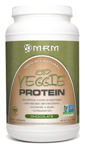 MRM – Veggie Protein Powder, Protein Source for Vegans, Gluten-Free & Preservative-Free, Non-GMO Verified(Chocolate, 2.5 lbs) For Sale