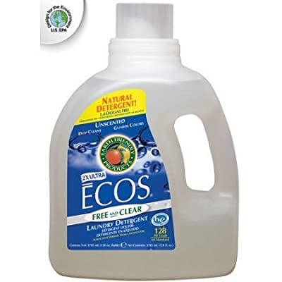 Ecos Laundry Detergent, Free & Clear, 100% natural, Color guard, Unscented, 128 fl oz