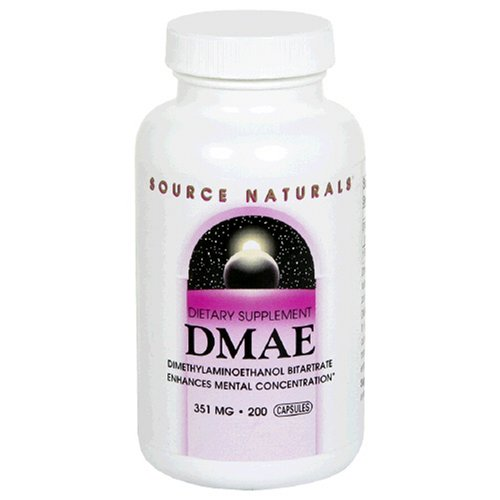 Source Naturals DMAE, 351mg, 200 Capsules (Pack of 2) by Source Naturals