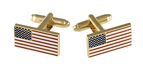 Official American Flag Cufflinks (5 Sets Gold) by Forge