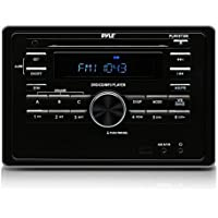 Pyle PLRVST300 RV Wall Mount Bluetooth Audio/Video Receiver, A/V Stereo Head unit, CD/DVD Player, USB Reader
