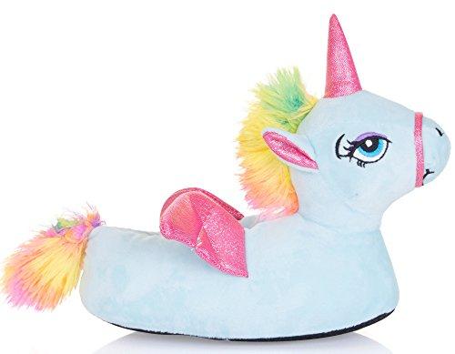 Damas Unicorn Loungeable Pantuflas Flying Novedad Blue Tienda Acogedor Animal fgvA5qx