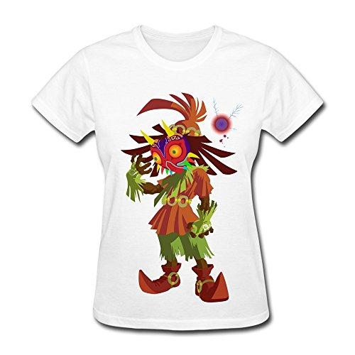 Jiuzhou Particular Legend Of Zelda Majora S Mask T-shirt -Women's T-shirt Size L White