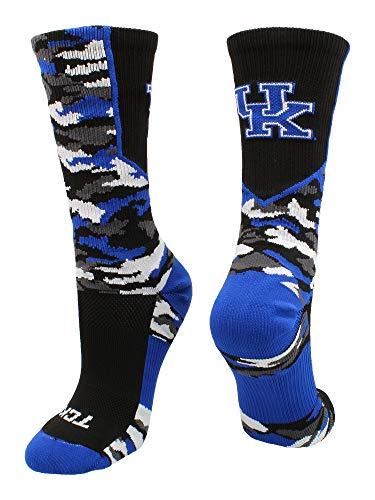 TCK Kentucky Wildcats Woodland Camo Crew Socks (Black/Blue/White, Small)]()