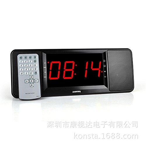 Bzng Bed alarm clock Bluetooth audio remote control/card/FM radio/connection ()