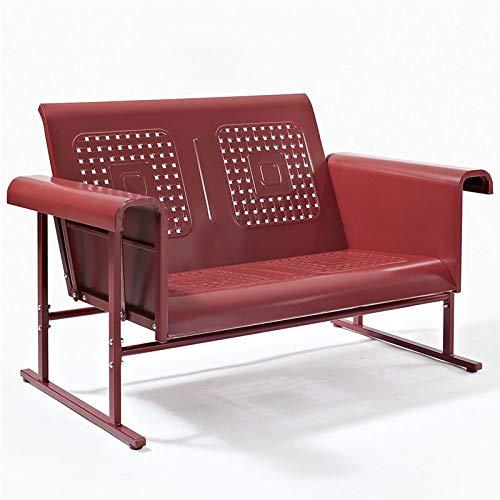 - Crosley Furniture Bates Loveseat Glider - Red