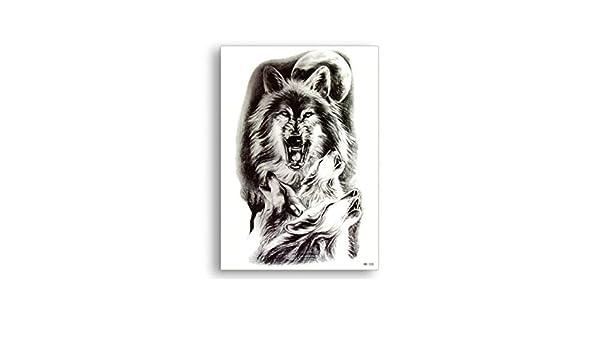 ASTTY Etiqueta Engomada del Tatuaje Wolf Bestia Tatuajes ...