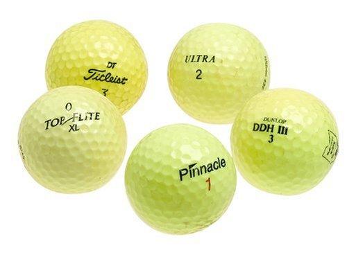 Various Brands Optic Yellow Mixed Recycled Golf Balls, 48 Pack w/mesh bag B000E9V6DC