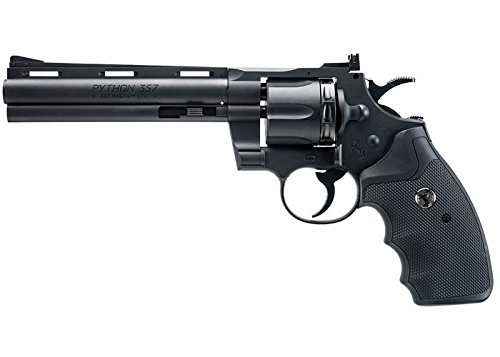 "Colt 6"" Python .177 Caliber Steel BB- C02 Powered-black"