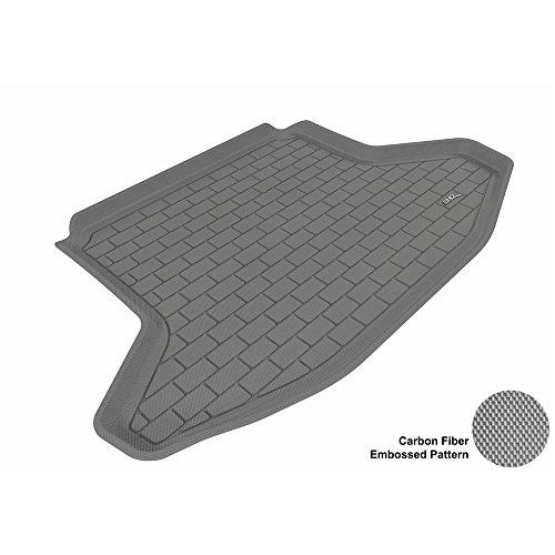 Prius Toyota Cargo (3D MAXpider Cargo Custom Fit All-Weather Floor Mat for Select Toyota Prius Models - Kagu Rubber (Gray))