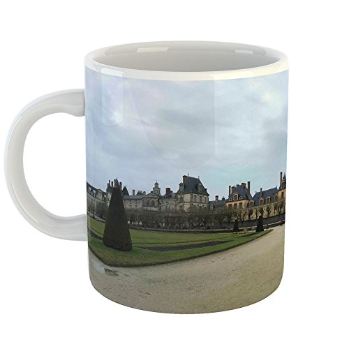 Westlake Art - Fontainebleau Castle - 11oz Coffee Cup Mug - Modern Picture Photography Artwork Home Office Birthday Gift - 11 Ounce (723E-B194E)