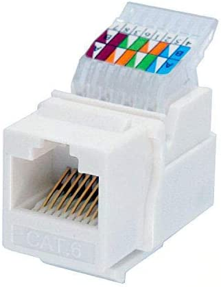 Amazon.com: IDC RJ45 CAT6/CAT5e Tool-Less No Punch Down Tool Required Gold  Plated Keystone Jack, 10 GB Ethernet Cable Patch Panel Wall Plate w  Standard Keystone Port, with Color Coded Wiring Schema SnapAmazon.com