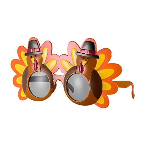 Tinksky Creative Turkey Glasses Thanksgiving Eyeglasses Cartoon Sunglasses Eye Glasses for Happy Thanksgiving Costume Party Glasses, gift for friends]()