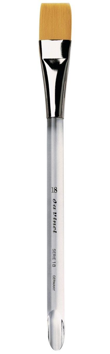 da Vinci Nova Series 18 Aquarelle Paint Brush, Flat Wash Synthetic, Size 18 (18-18) by da Vinci Brushes