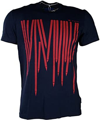 adidas Originals T Shirt de Sport Homme Bleu Small