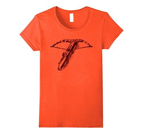 Womens CROSSBOW T-Shirt | Leonardo Da Vinci Arbalist Archery Tee Medium Orange