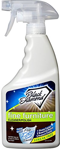Fine Furniture Cleaner & Polish: Add a Beautiful Spray Shine to your Furniture and Wood Cabinets. By Black Diamond Stoneworks. (1, Pint) - Oak Finish Gel