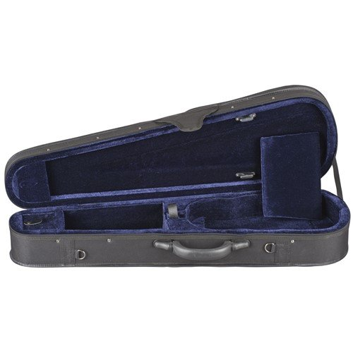Toshira Shaped Violin Case Black Blue 1/4 Size