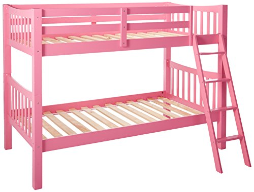 Donco Kids 9070TTP Mission Bunkbed, Twin, Pink ()