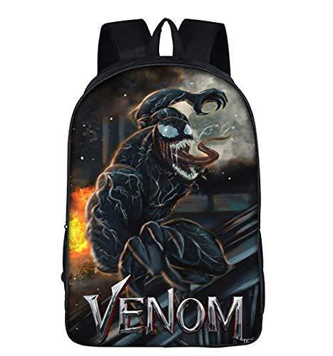 - KK-Jim Boys Venom School Backpacks Travel Backpack Book Bag for Kids Black5