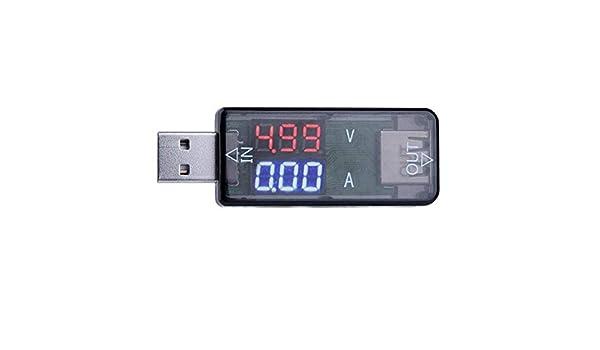 USB Charger DC 3.2-10V Doctor LED Current Voltage Meter Tester Voltmeter Ammeter