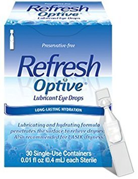 Refresh Optive Sensitive Preservative-free Lubricant Eye Drops 30 Ea (Pack of 4)