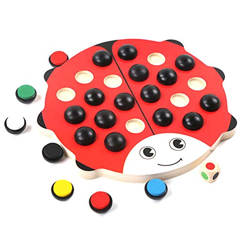 Children Wooden Chess Game Educational Toys, Memory Match Brain Training Gifts Children, Multi-Function Learning, Active…