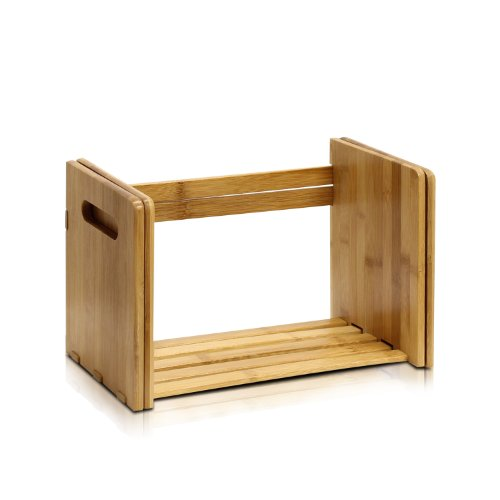 Furinno Bamboo Extension Book Rack, Natural