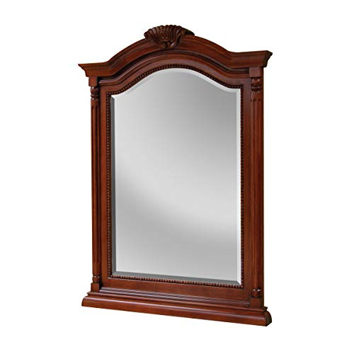 Foremost Cherry Vanity - Foremost WIM2635 Wingate Mirror, 36-1/4 In L X 26 In W X 2-1/4 In T, Cherry, Brown