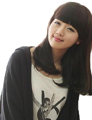 Wigs have an attractive convenience fashion Woman Long Cute Curly Hair Synthetic Full Bang Wigs 3 Colors (Cute Halloween Costumes Tumblr)