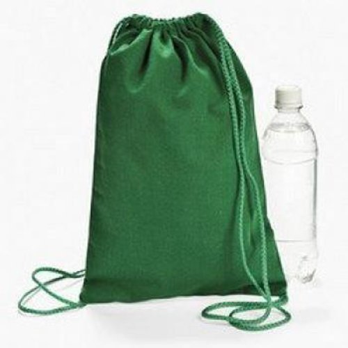 Green Drawstring Backpacks Dozen BULK