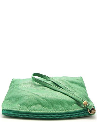 Clutch Mujer cesar oe Pm093821v Histoiredaccessoires Verde Cuero De qOtwxwHU