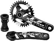 VUNDO Crankset Mountain Bike Crank Set Arm with Bottom Bracket kit for MTB BMX Road Bicycle Single Speed Crank