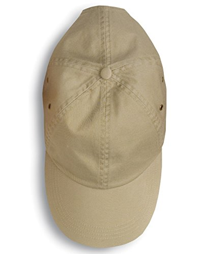 - Anvil 156 Twill 6-Panel Low Profile Cap Khaki One Size