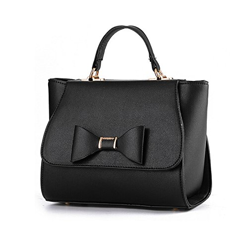 NiaNia Tote Women Bag Handbag Women's YB029 Totes Black Leather rqz1rwZ