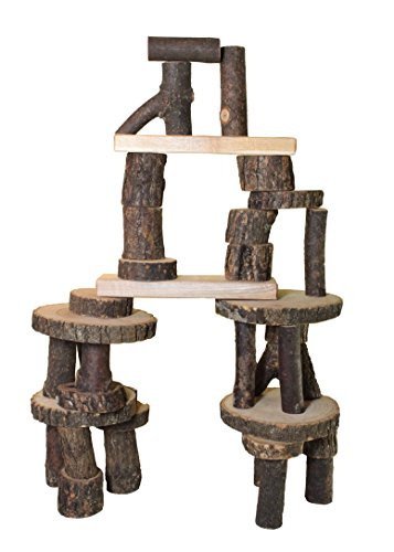 Tree Blocks Amazing Wooden Building Blocks Set 36 Pieces ()