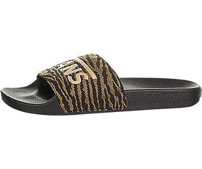 7e953fd2b9a1cc Amazon.com  Vans Slide-On (Woven Tiger) Black  Shoes